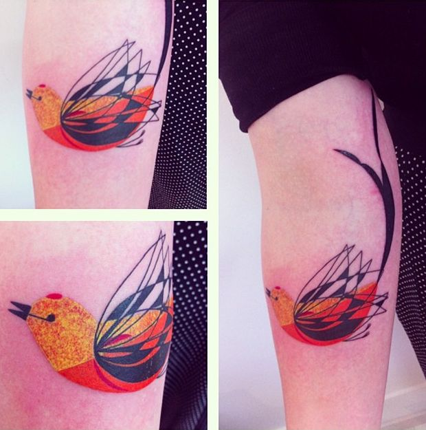 seb inkme cute bird tattoo