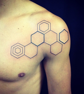 seb inkme minimalist hexagons tattoo
