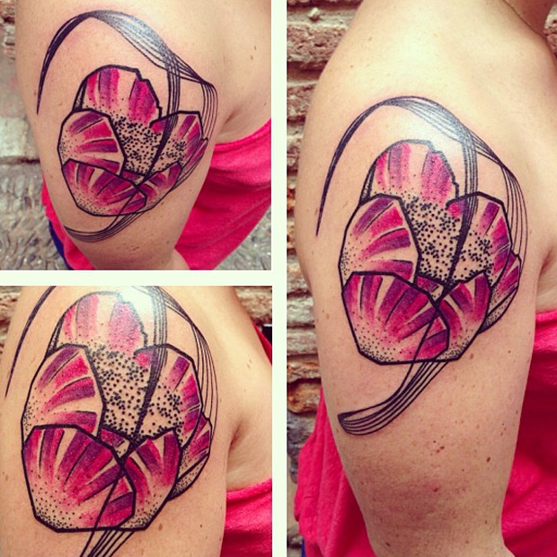 seb inkme pink flower tattoo