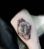 stained glass flower tattoo by M-X-M