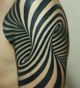 stripes patterned tattoo