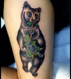 virginia elwood tattoo bear eats blueberries