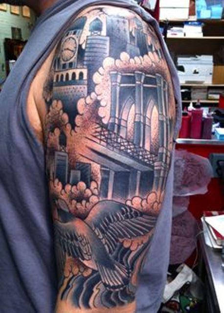virginia elwood tattoo bluish arm sleeve