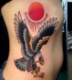 virginia elwood tattoo eagle and the sun