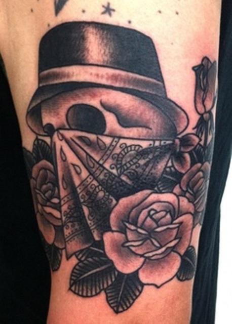 virginia elwood tattoo skull and rose