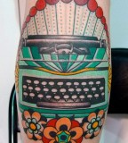 virginia elwood tattoo typewriter
