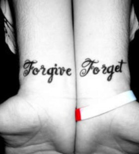 wrist tattoo forgive forget