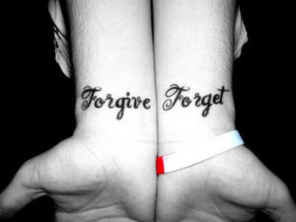 wrist tattoo forgive forget