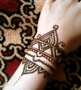 wrist tattoo henna style