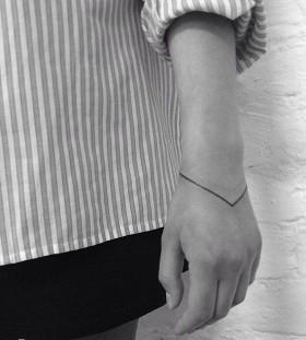 wrist tattoo minimalist bracelet