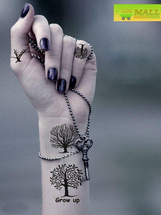 wrist tattoo trees grow up