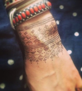 wrist tattoo tribal