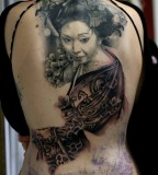 Asian women tattoo