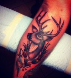 Deer tattoo by Josh Stephens