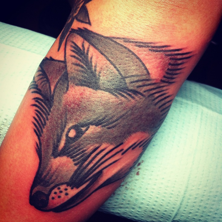 Pretty fox tattoo by Josh Stephens