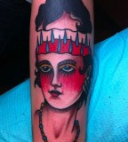 Women tattoo by Josh Stephens