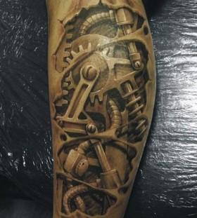 3D biker tattoo