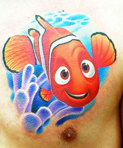Amaizing Nemo cartoon tattoos