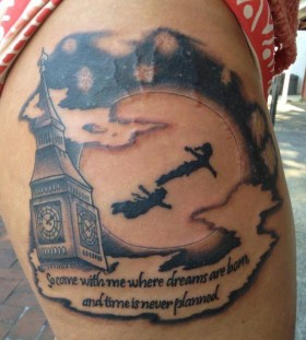 Amaizing Peter Pan tattoo