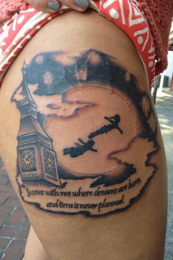 Amaizing Peter Pan tattoo
