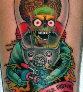 Amaizing alien tattoo