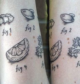 Amaizing food tattoo