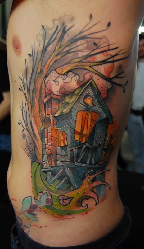 Amaizing house tattoo by Jukan
