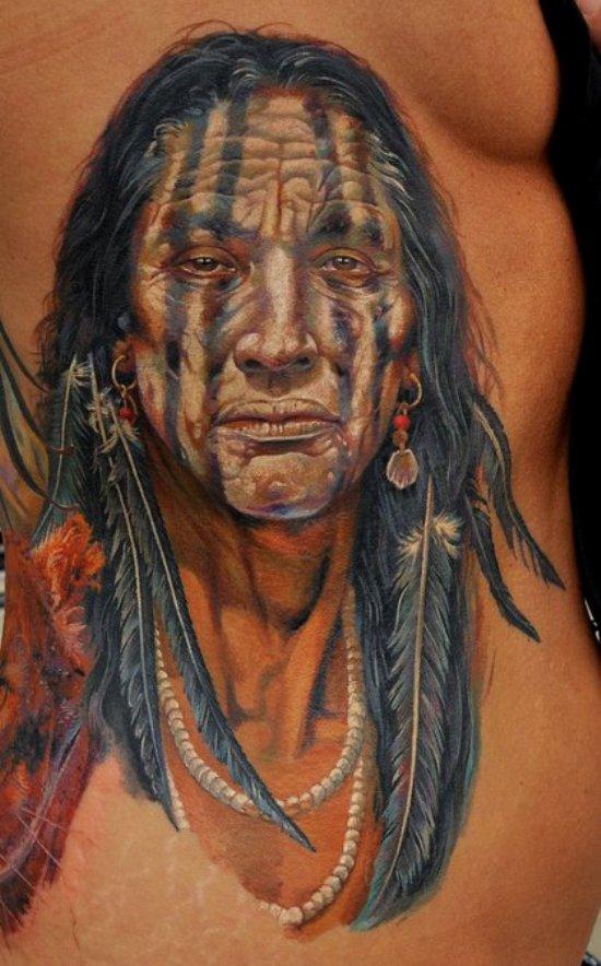 American Tribal Photorealistic Tattoo Tattoomagz Tattoo