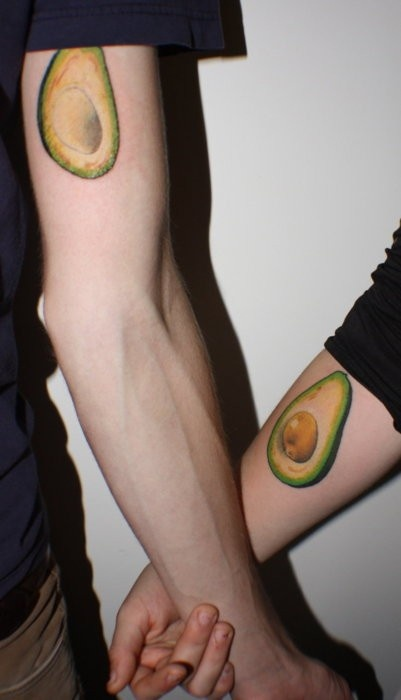 Avocado tattoo