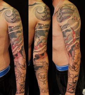 Awesome arms tattoo by Jee Sayalero