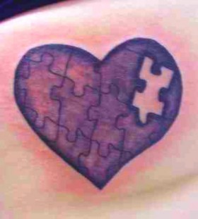 Awesome puzzle tattoo