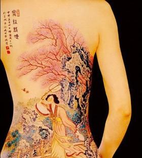 Back chinese tattoo