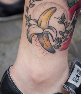 Banana food tattoo