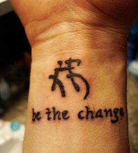 Be the change chinese tattoo