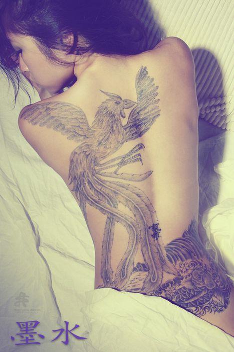 Big bird chinese tattoo