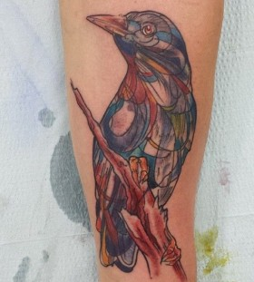Bird tattoo by Mel Wink