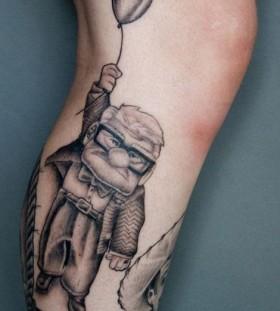 Black and white cartoon tattoos