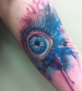 Blue eye tattoo by Mel Wink