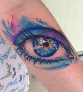Blue eye tattoo
