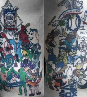 Cartoon sport tattoo