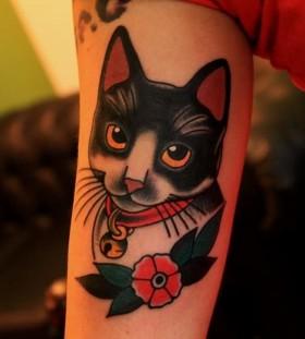 Cat cartoon tattoos