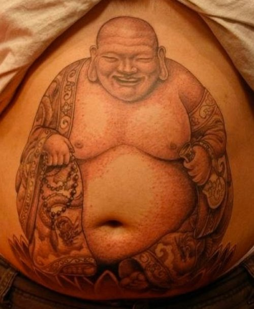 Chinese man tattoo by Corey Miller