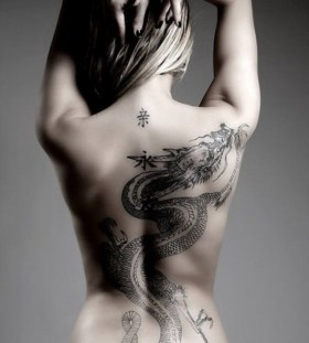 Chinese woman tattoo