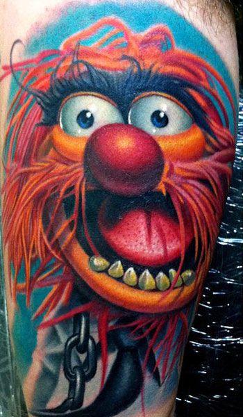 Colorful cartoon tattoos