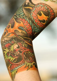 Colorful chinese tattoo
