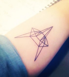 Cute origami tattoo
