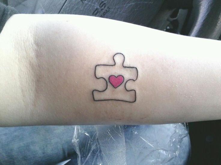 Cute puzzle tattoo