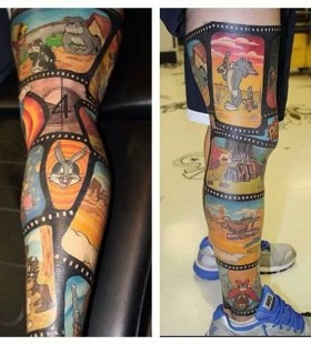Disney comics cartoon tattoos
