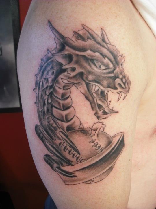 Dragon tattoo baseball