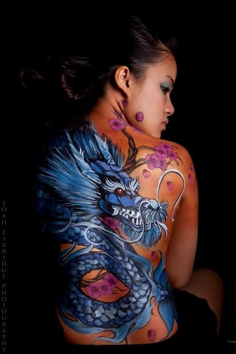 Dragon tattoo  complete back